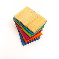 Банное махровое полотенце с узором. В упаковке 6 шт разного цвета. Размер 130х65, фото 1