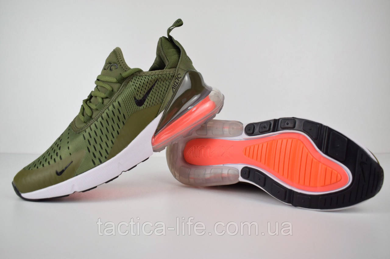 9aeee27c Мужские кроссовки Nike Air Max 270 хаки зеленые (ТОП реплика ...