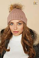 Donna-M Модная вязаная шапка с бубоном V 67