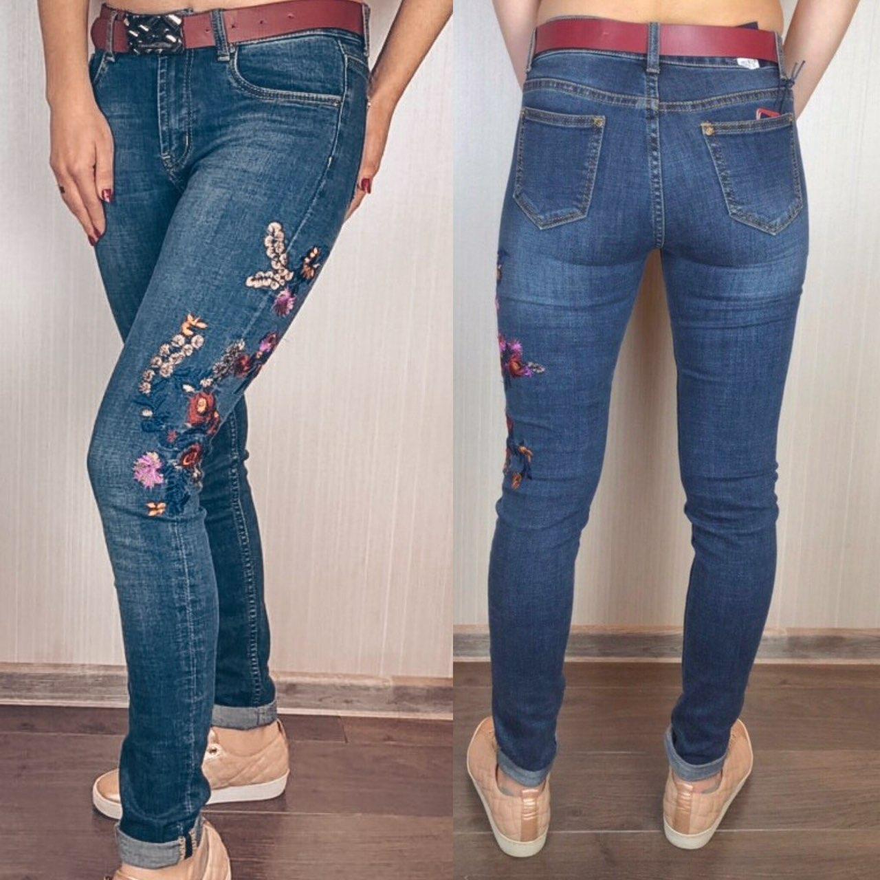 23a2b6b1031 Женские джинсы с вышивкой - bonny-style в Днепре