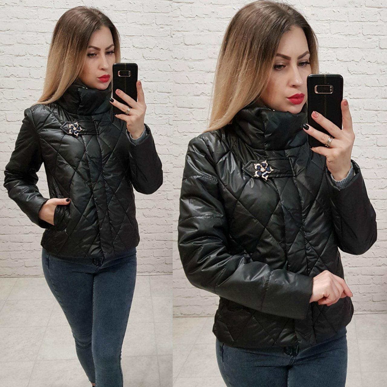 b83009e1bd8 Новинка! Женственная куртка с брошью