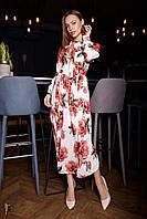 Donna-M Шифоновое платье с цветочным принтом Р 2097, фото 1