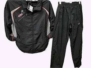 Костюм мужской спортивный Adidas из плащевки Черный