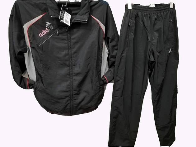 Костюм мужской спортивный Adidas из плащевки Черный , фото 2