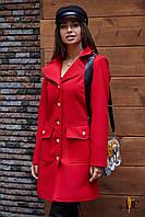 Donna-M Кашемировое пальто с золотистыми пуговицами Р 2441, фото 1
