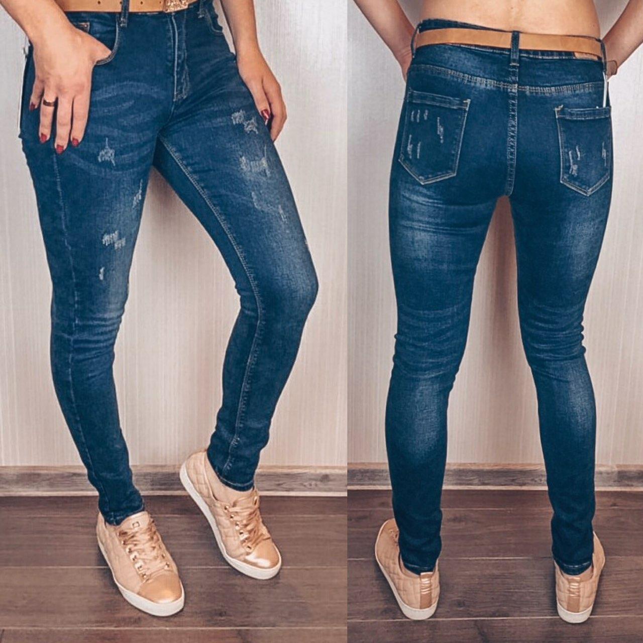 174e04425b9 Молодежные женские джинсы на болтах с поясом - bonny-style в Днепре