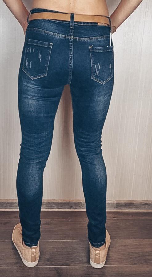 10c2fd28f5b Молодежные женские джинсы на болтах с поясом