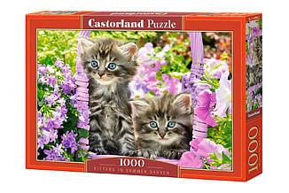 Пазлы Castorland Котята в саду