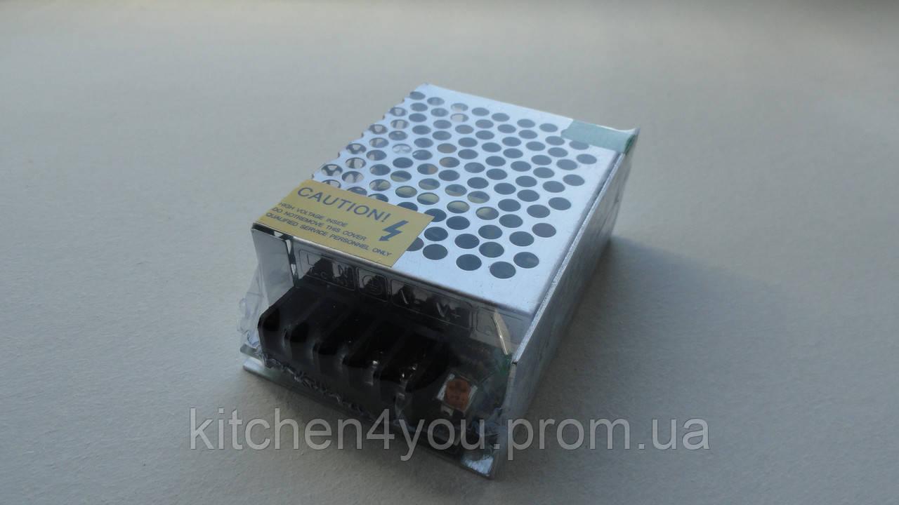 Блок питания для светодиодных лент 12 V / 25 W не герметичный