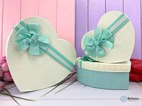 Сердце коробка на подарок с бантом белый цвет на день рождение свадьбу годовщину коробка для украшений