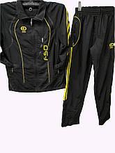 Мужской спортивный костюм Avic из плащевки с желтой отделкой