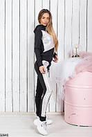 Спортивный костюм женский демисезонный креп-дайвинг 42-48 размеров, 2 цвета