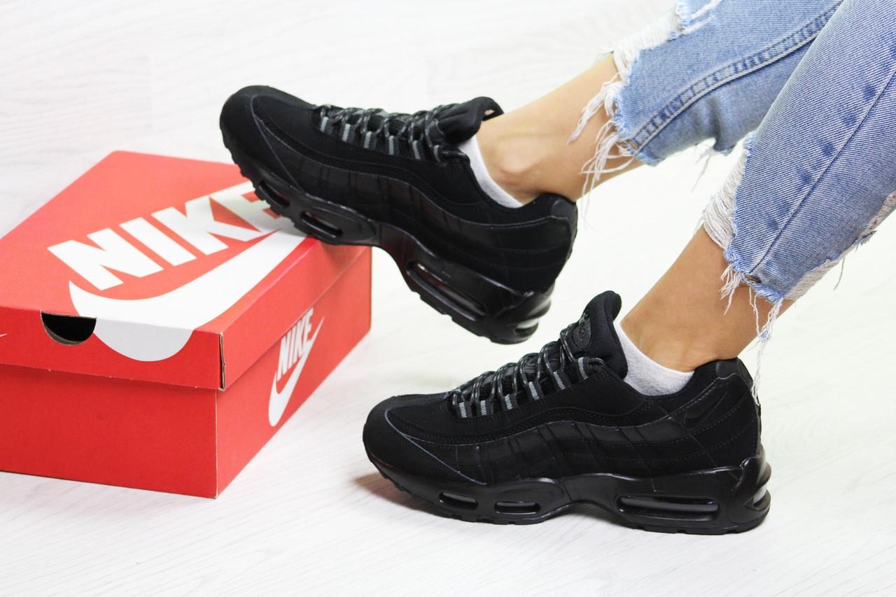 0cbe0f9ca Женские Кроссовки на Зиму Черные Nike 95 6739 — в Категории ...