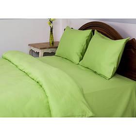 Постельное белье Lotus Отель - Сатин Классик зеленый евро (Турция)