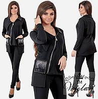 Женский спортивный костюм с косой змейкой 1070