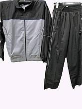 Мужской спортивный костюм из плащевки черно-серый комбинированный
