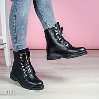 Зимние женские ботинки из натуральной кожи 1131