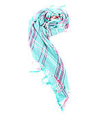 Шарф женский Maison Scotch цвет зелено-розовый размер 85/85 арт 1621-03.70709