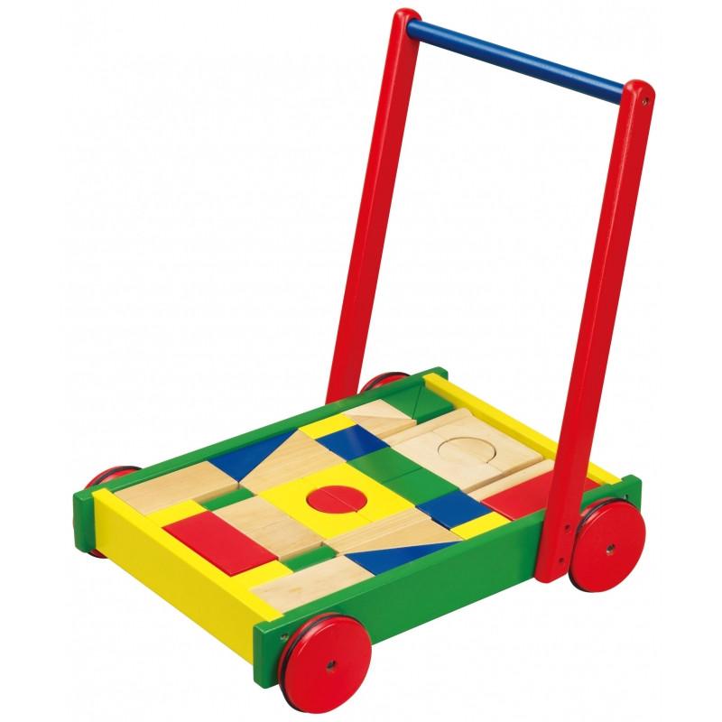 Ходунки дерев'яні з кубиками Viga Toys 50306