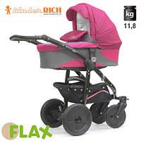 Коляска универсальная Kinder Rich - - Fox Flax (Лен) Pink