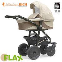 Коляска универсальная Kinder Rich - - Fox Flax (Лен) Beige