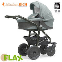 Коляска универсальная Kinder Rich - - Fox Flax (Лен) Grey