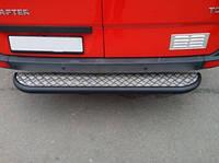 Задняя подножка Mercedes Sprinter с листом черный мат