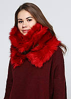 Меховой снуд женский DIESEL цвет красный размер Универсальный арт 00SLB6-0QAIQ-43R