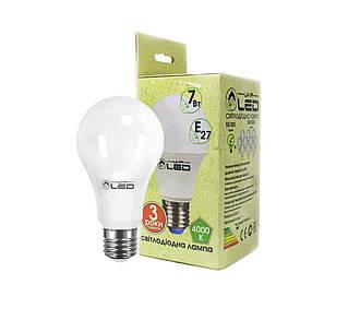 Світлодіодна лампа UkrLed Е27 7W (Груша) 4000К