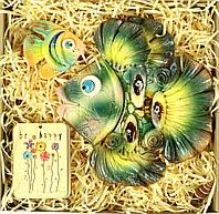 """Декоративная рыбка сувенир на стену """"Красотка морская"""", элементы декора ручной работы"""