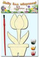 Деревянная раскраска Тюльпан