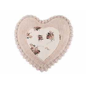 Коврик Irya - Essa Heart розовый 70*70