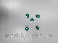Глазки с подвижным зрачком зеленые 12 х 16 мм