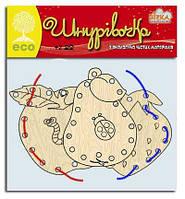 Детский набор для творчества Деревянная шнуровка Фрукты
