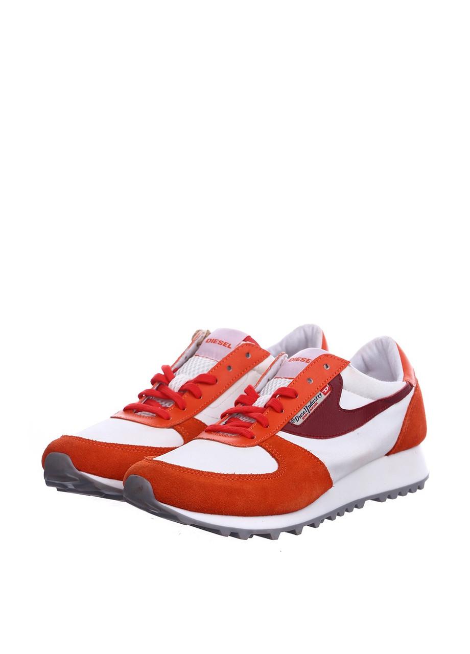 (Уценка) Кеды женские Diesel цвет бело-оранжевый размер 39 арт (УЦ)Y01100PS780H5596