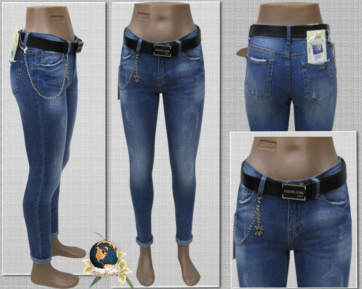 Модные зауженные женские джинсы средняя посадка Cudi