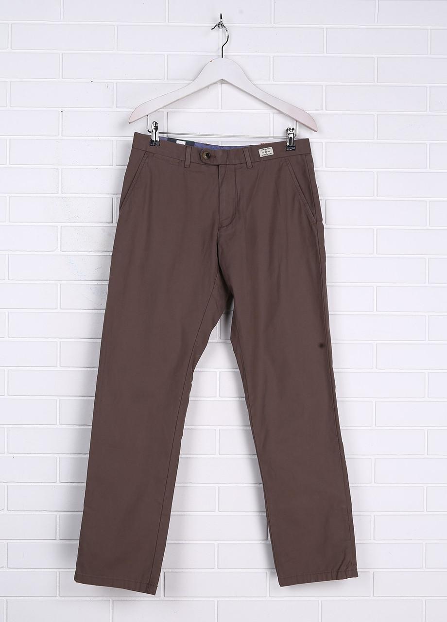 4b0437582de4 Штаны мужские TOMMY HILFIGER цвет коричнево-серый размер 32/32 арт  0857889647