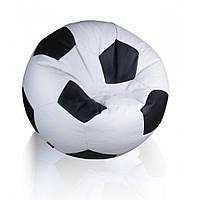 """Кресло-мешок"""" Мяч"""" белый с черным 83 см"""