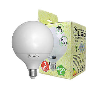 Світлодіодна лампа UkrLed Е27 14W (Глобус) 4000К