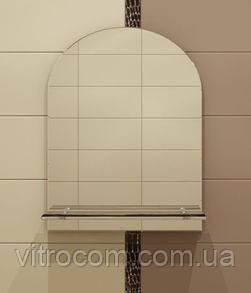 Зеркало с полкой  для ванной 70х55