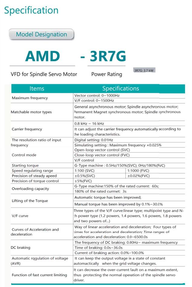 Частотный преобразователь AMD-3R7 4 кВт 380 В