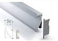 Алюминиевый профиль для светодиодной ленты врезной 26х78 c диффузором