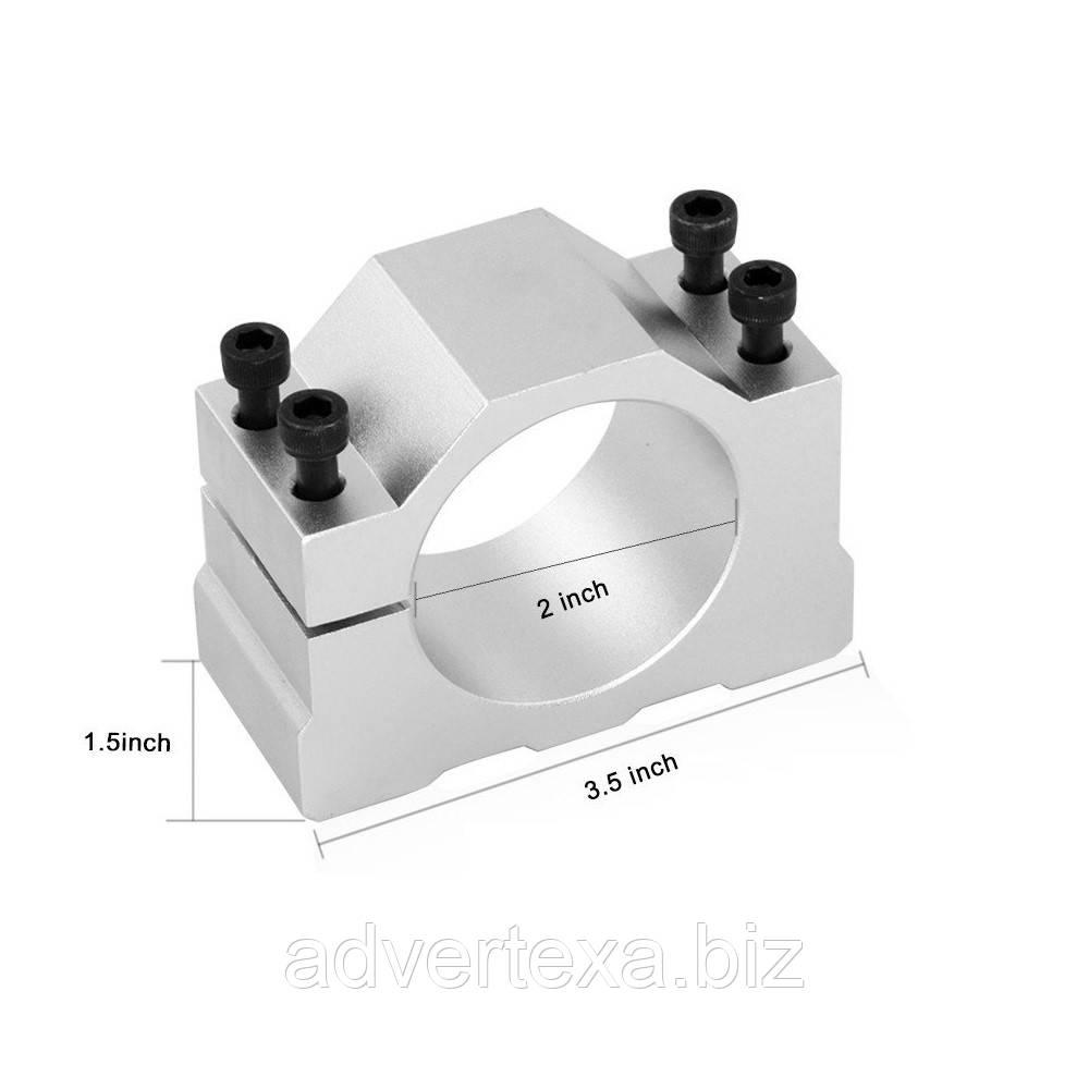 Зажим с винтами для электро шпинделя с диаметром 52мм, кронштейн для ЧПУ фрезерного станка