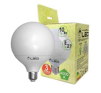 Світлодіодна лампа UkrLed Е27 10W (Глобус) 4000К