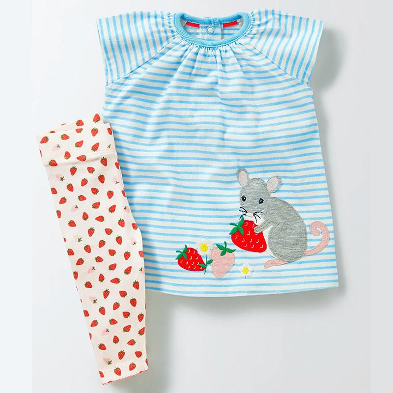 Комплект 2 в 1 для девочки Мышка и клубника Jumping Beans
