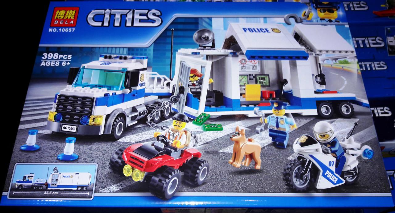 Конструктор Bela 10657 City Сити Мобильный командный центр 398 деталей