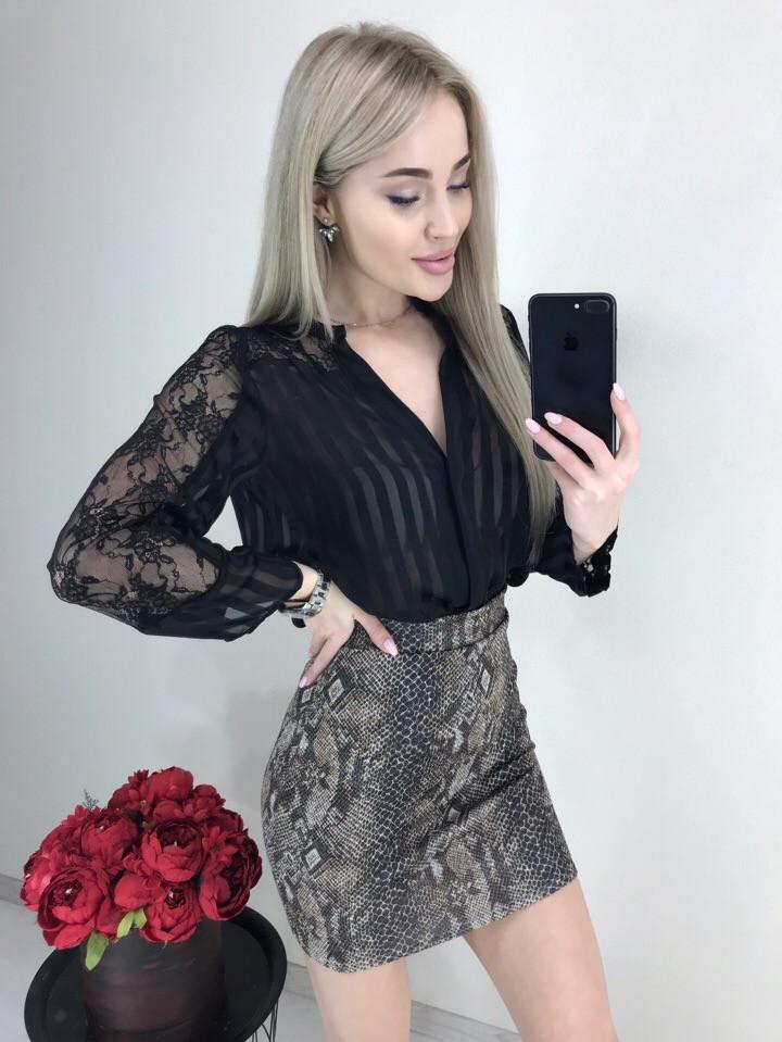 Стильная ангоровая юбка, супер стильный принт - питон