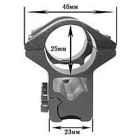 Крепление на оружие для фонаря 2x25mm Ring (планка Вивера 10 мм) (K374)