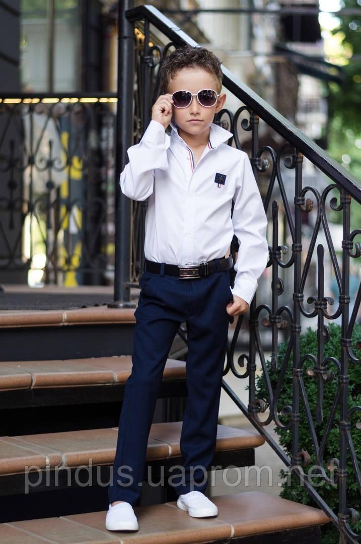 8991c5d73a19c0e Стильная рубашка для мальчика, 116 - 152. Детская, подростковая рубашка с  длинным рукавом