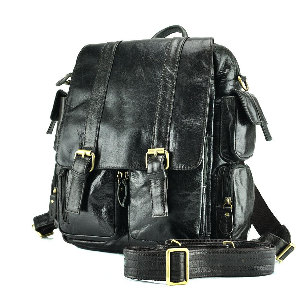 b0709f9f9adb Рюкзак кожаный TIDING BAG 7123J Черный (R2aTy1d): продажа, цена в ...